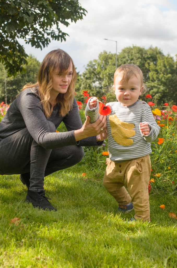 Jonah with his poppy and Mummy