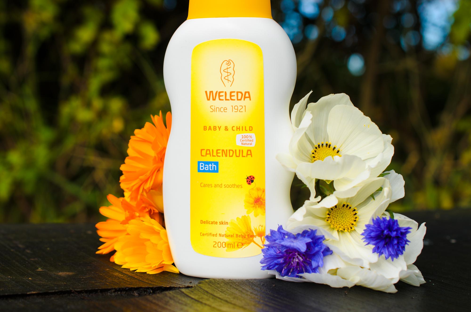 Weleda Baby Calendula Bath review - Natural Beauty with Baby