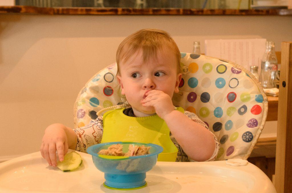 Jonah enjoying his lunch