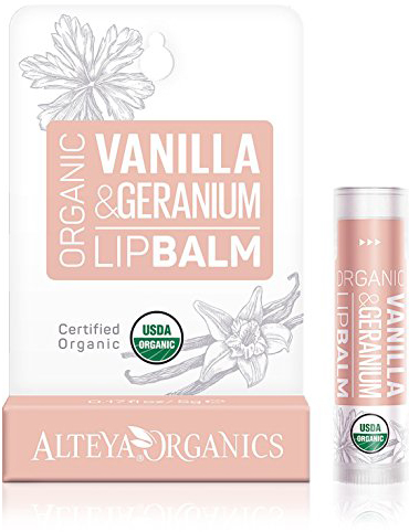 Alteya Organic Lip Balm Vanilla and Geranium