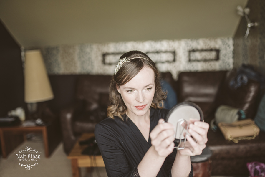 Me wearing MAC Vegas Volt lipstick on our wedding day