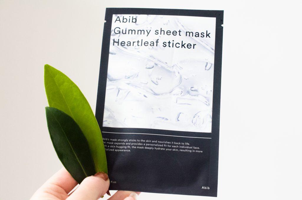Abib Gummy Sheet Mask Heartleaf Sticker