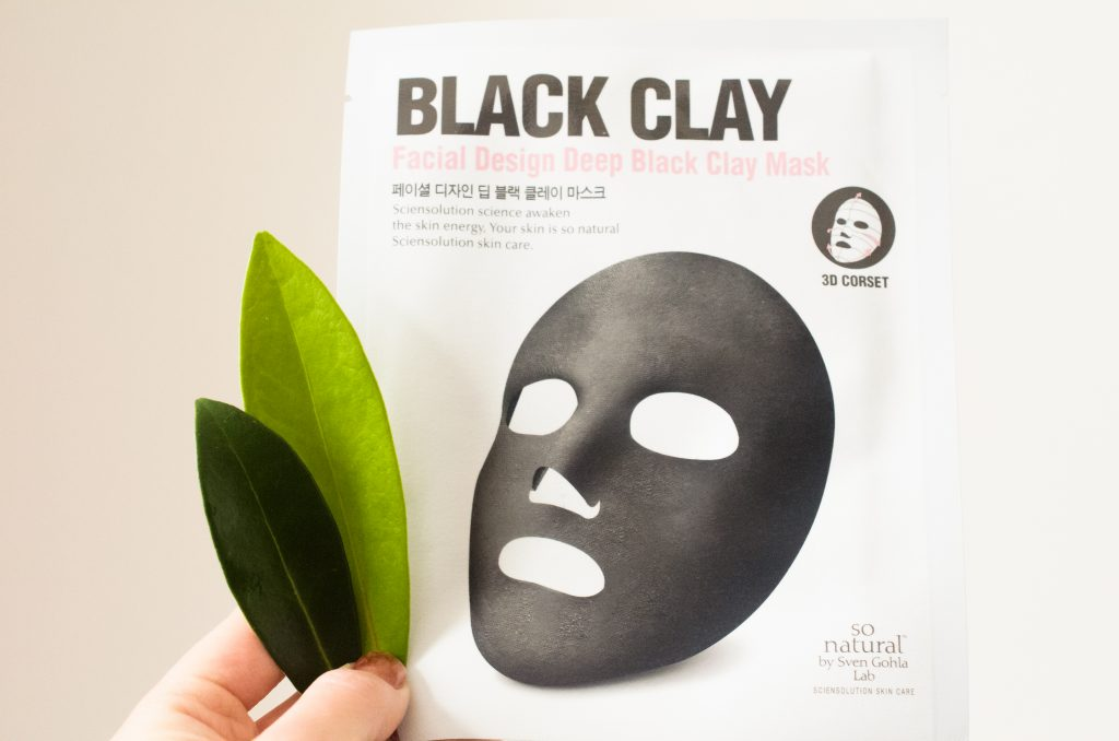 So Natural Facial Design Deep Black Clay Mask
