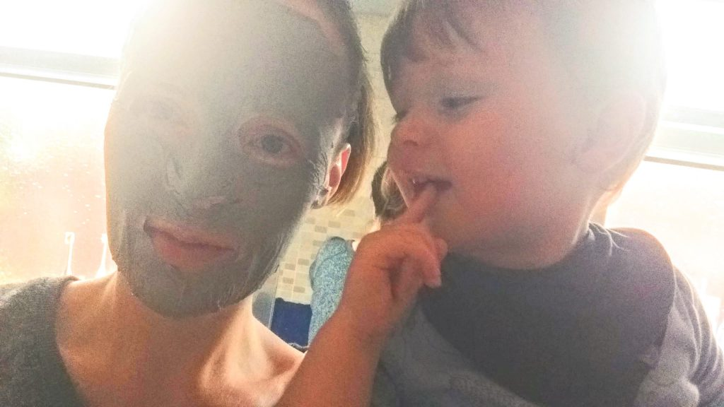 Jonah finds it funny when I wear the Deep Black Clay Mask