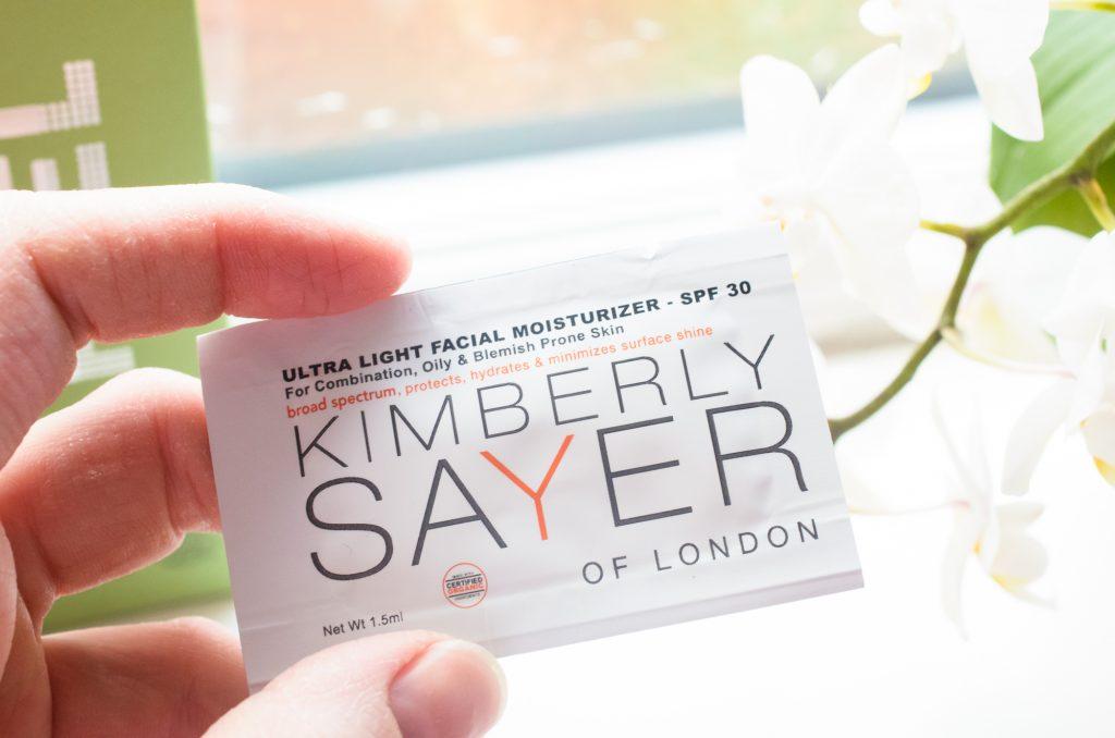 Kimberly Sayer Ultra Light Facial Moisturiser Sample