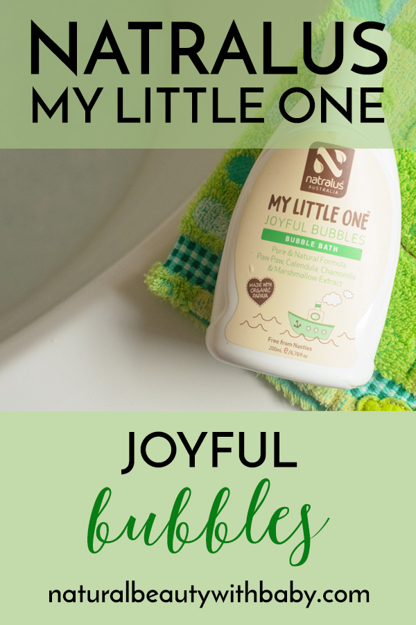 Looking for a natural and gentle bubble bath that's fun for your child but also kind to skin? Natralus My Little One Joyful Bubbles Bubble Bath is perfect for children with eczema or other skin complaints. Wonderful Australian skincare that's certified natural.