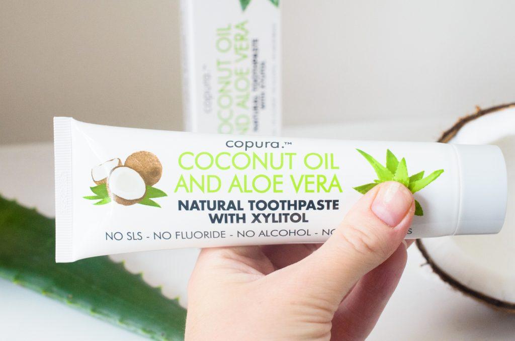 Holding Copura Coconut and Aloe Toothpaste