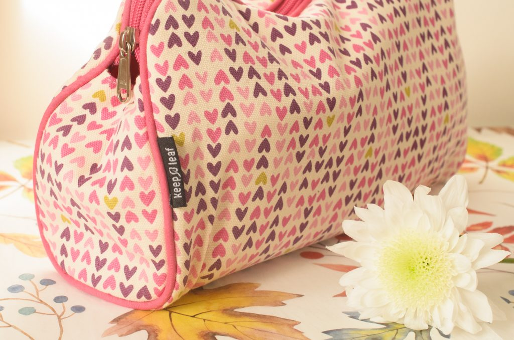 Keep Leaf Hearts Organic Cotton Toiletry Bag