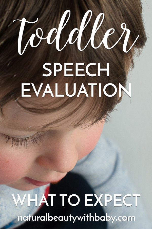 Are you waiting for a toddler speech evaluation? Here's our experience of a toddler speech evaluation, what to expect at the appointment, how long to wait for speech therapy, and activities and resources to support speech. #speechtherapy