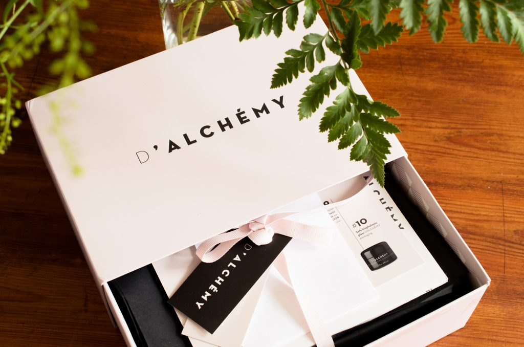 My D'Alchemy skincare box - lucky mama!