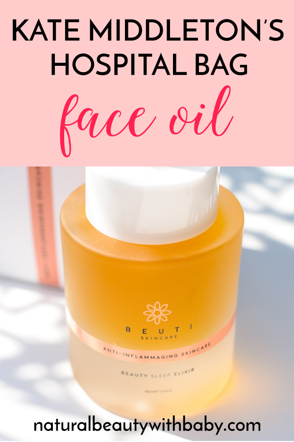 Natural and affordable face oil Beauty Sleep Elixir was said to have been used by Kate Middleton during her hospital stay. But is it as good as it's made out to be? #faceoil #naturalfaceoil