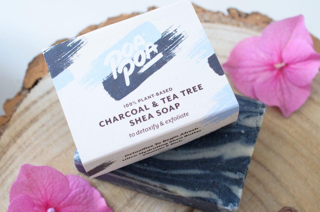 Poapoa Charcoal & Tea Tree Soap