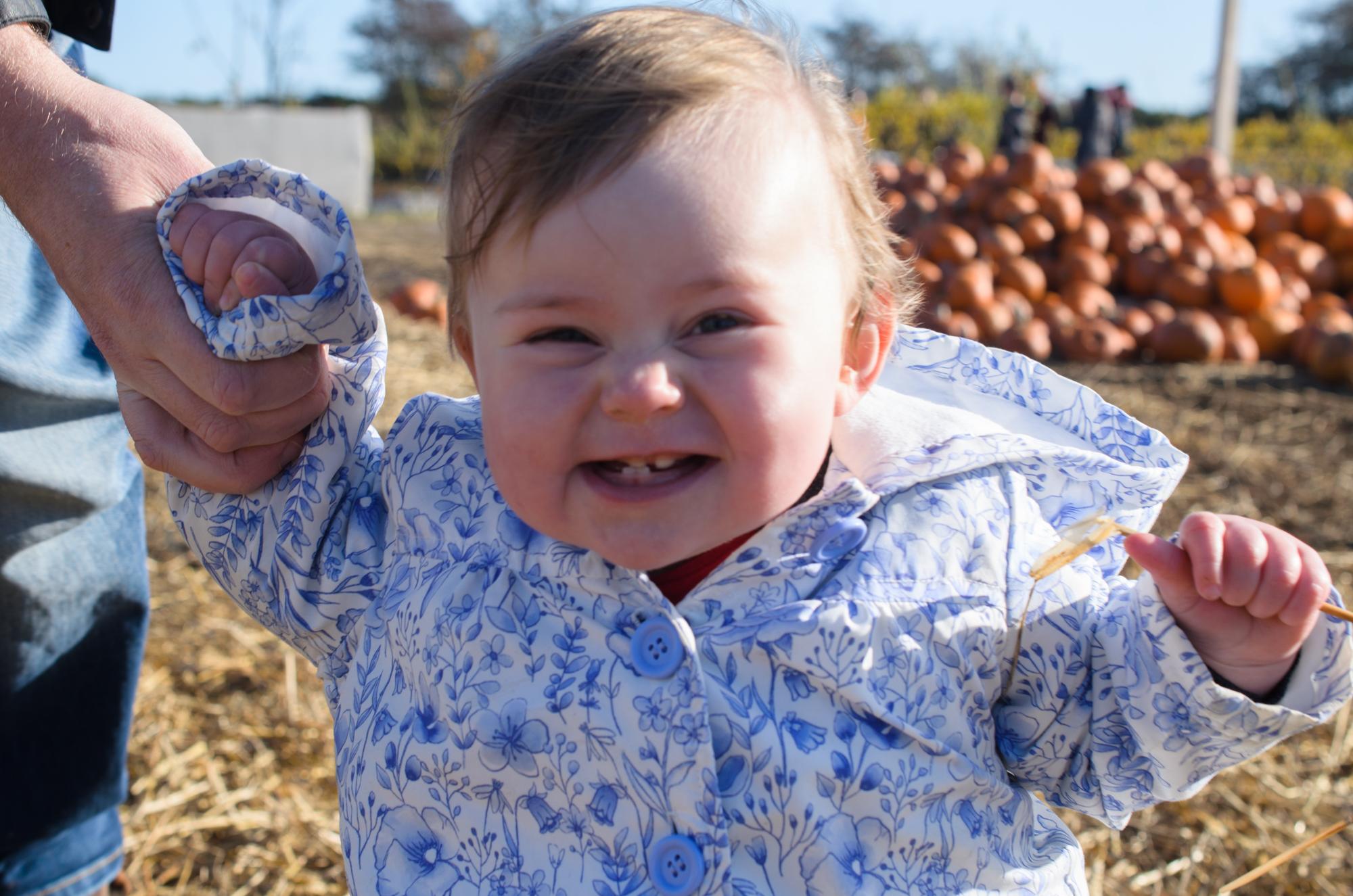 Cara in the pumpkin patch