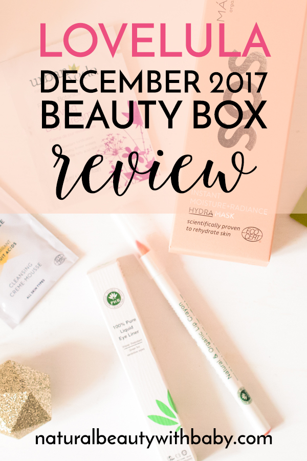 Read my review of the LoveLula December 2017 Beauty Box. A great way to find new natural beauty brands. Take a look!
