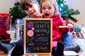 Littles Christmas Card Chalkola Markers