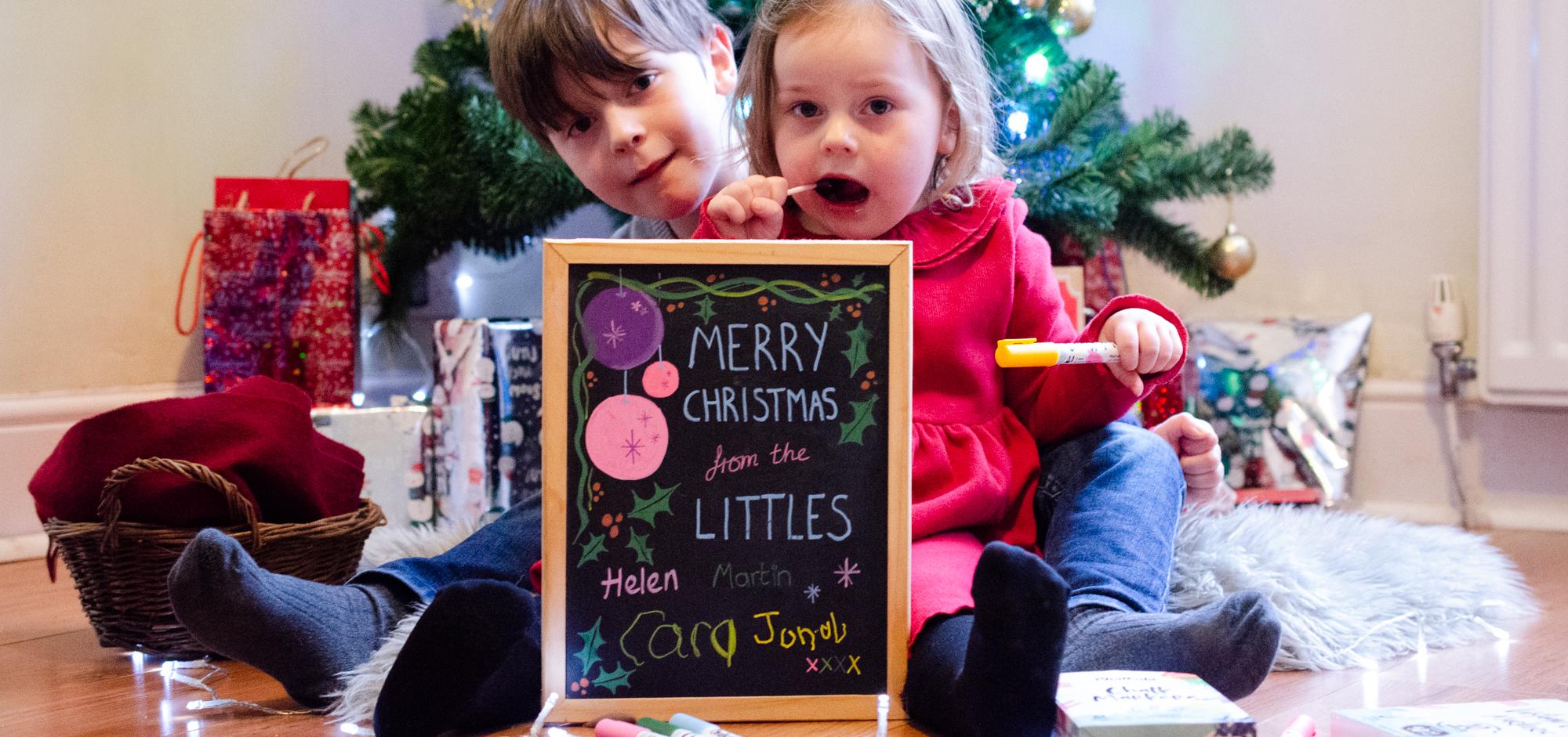 Littles Christmas Card Chalkola Markers