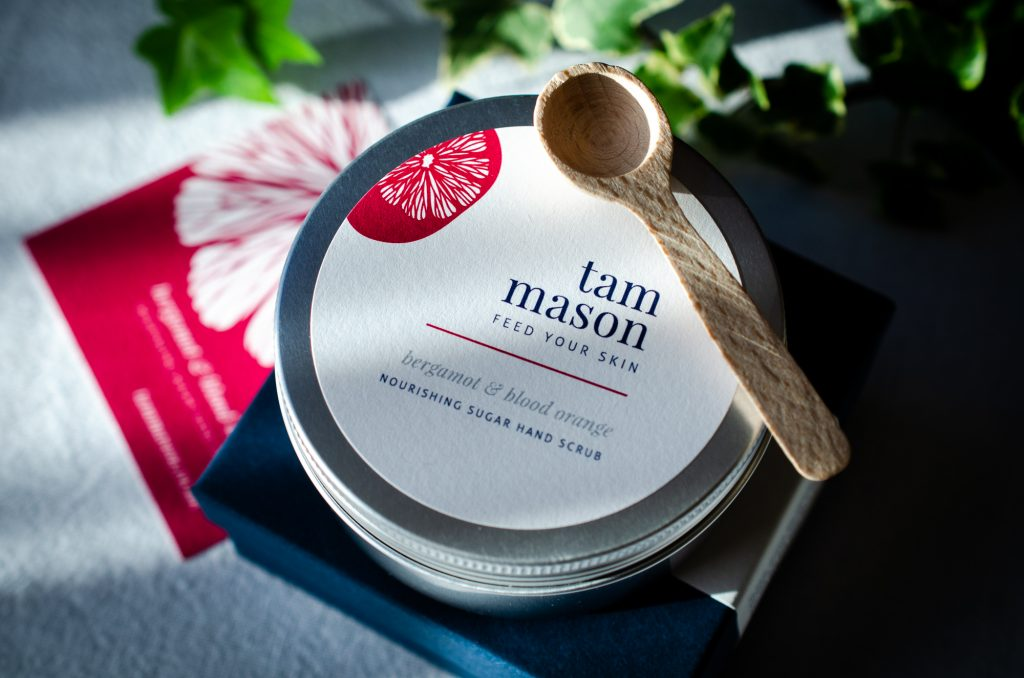 Tam Mason Bergamot & Blood Orange hand scrub with gift box