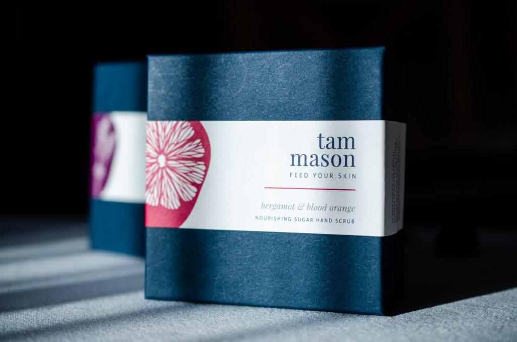 Tam Mason hand scrubs gift boxes