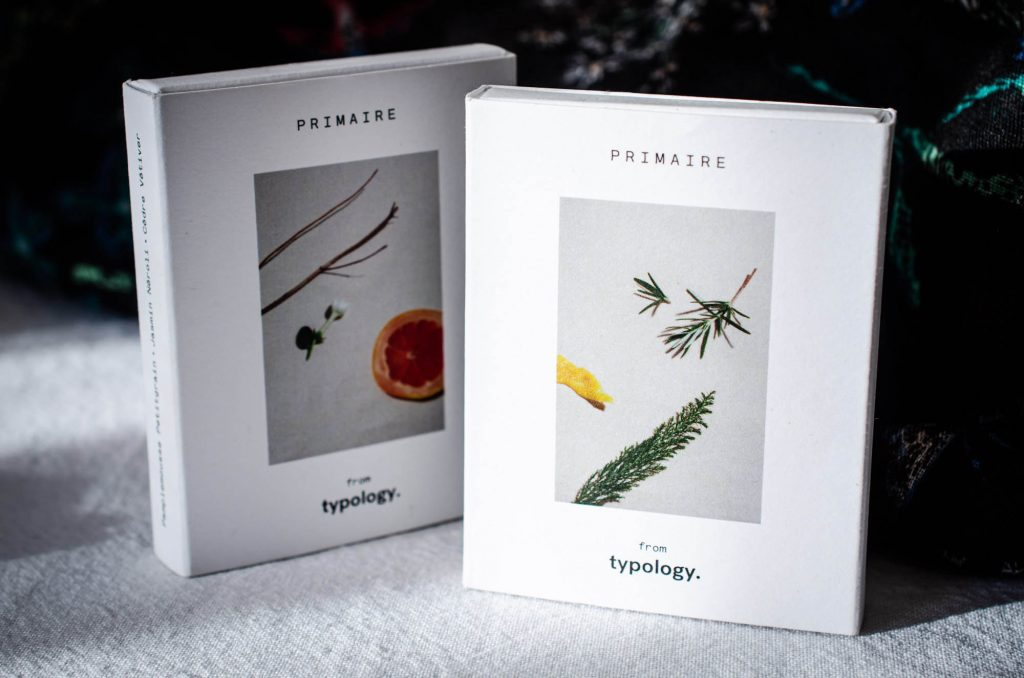Typology fragrance samples.