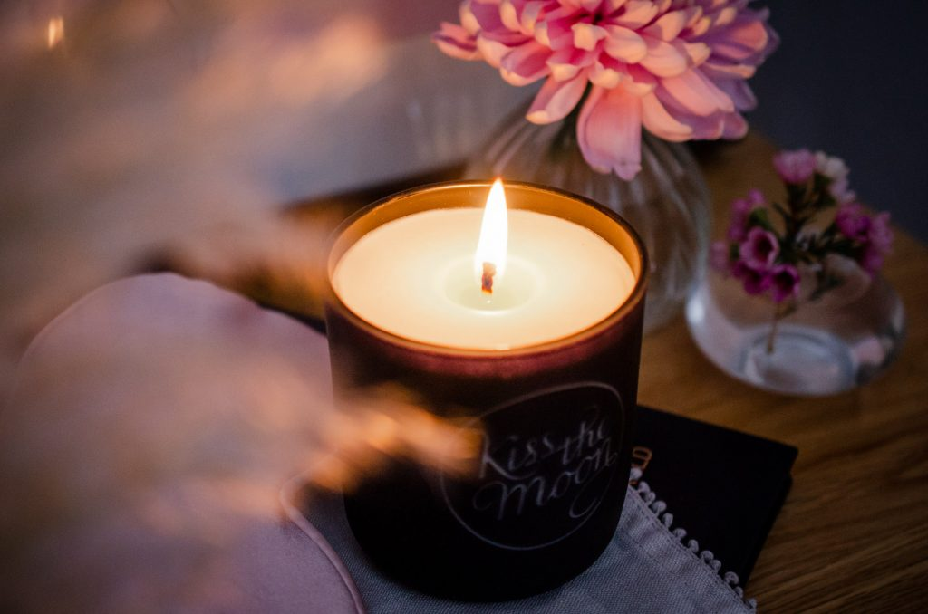 Dreamy shot of the candle