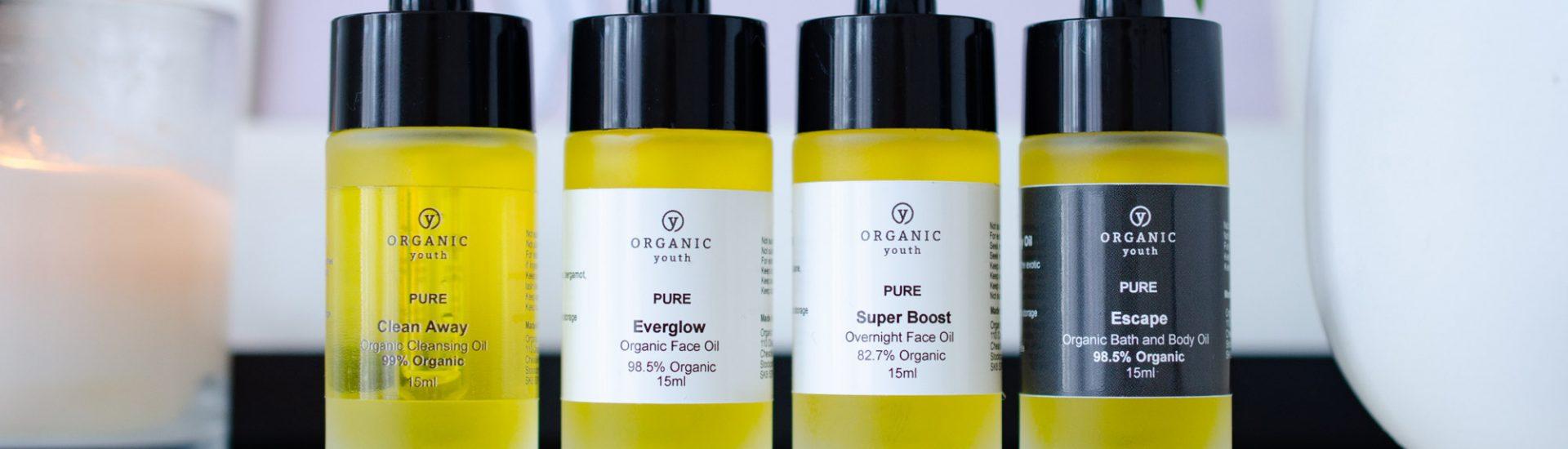 Organic Youth skincare minis