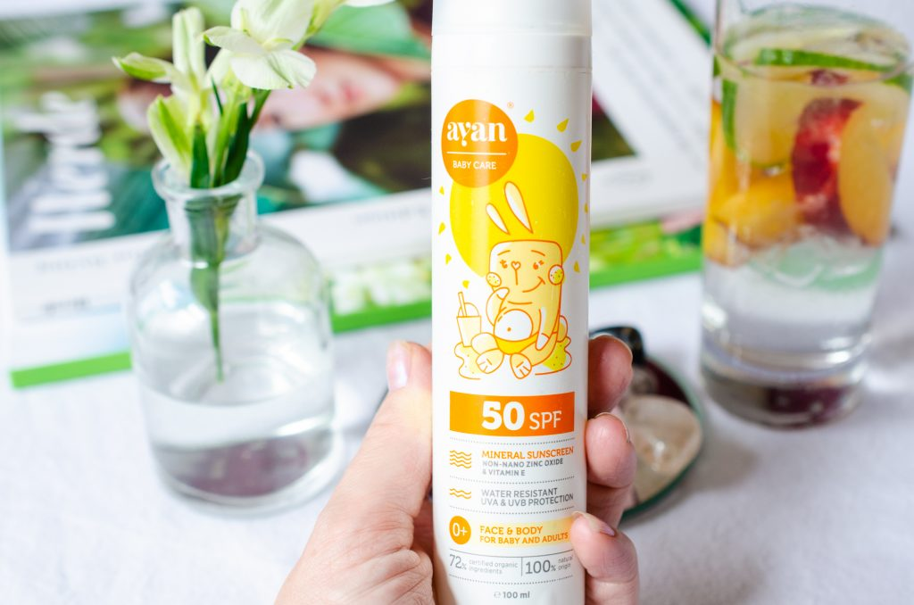 AYAN Mineral Sunscreen Lotion for Baby and Adults SPF50