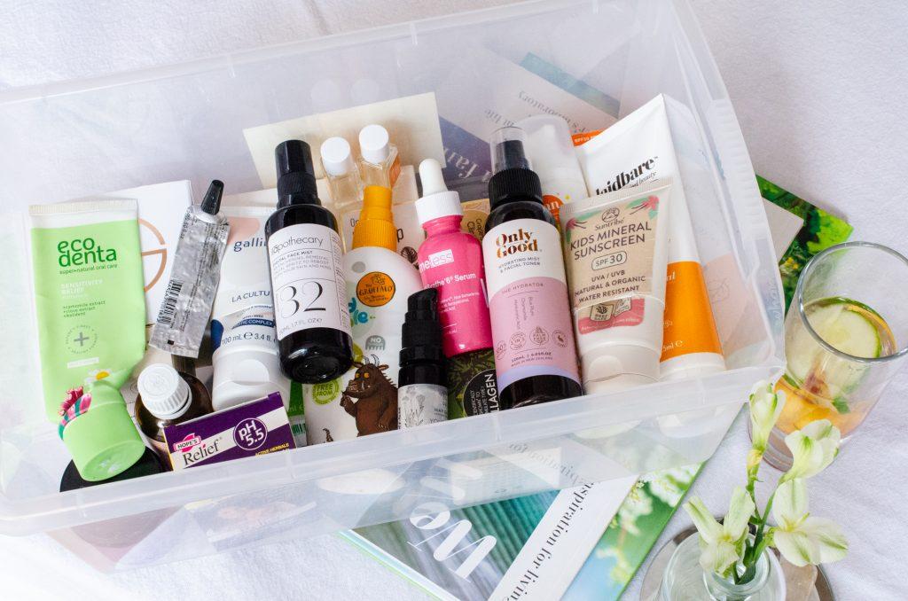 "July 2021 natural beauty empties ""box shot"""