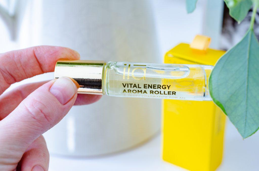 Ila Spa Vital Energy Aroma Roller to kick off my pregnancy hospital bag essentials from LoveLula